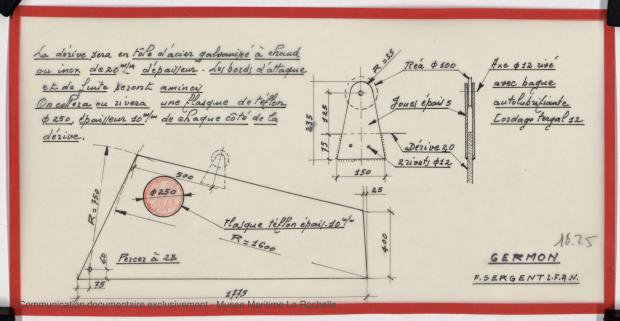 PLAN DE DERIVE/QUILLE - GERMON (1980)