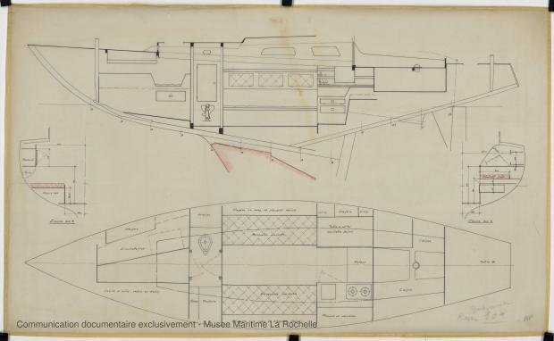 PLAN D'AMENAGEMENT  - WINDJAMMER  10 M (1962)