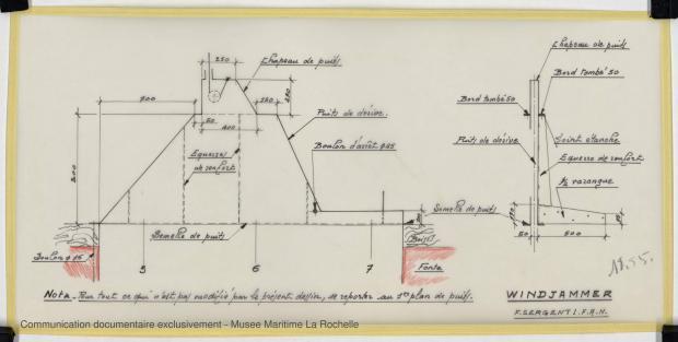 PLAN DE DERIVE/QUILLE - WINDJAMMER II  San 40   (1980)