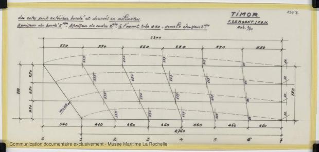 PLAN DE CONSTRUCTION - TIMOR DERIVEUR LESTE 11,75 M (1981)