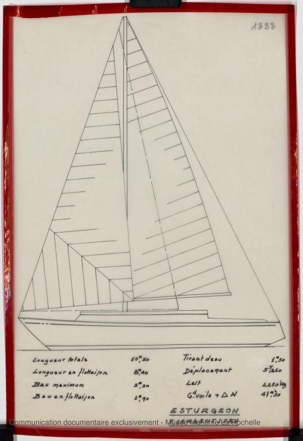 PLAN GENERAL - ESTURGEON 10,50 M (1981)