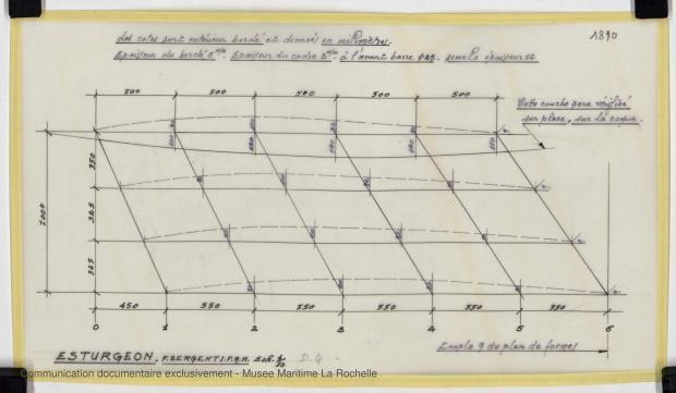PLAN DE CONSTRUCTION - ESTURGEON 10,50 M (1981)