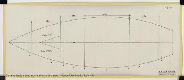 PLAN DE COQUE - ESTURGEON 10,50 M (1981)