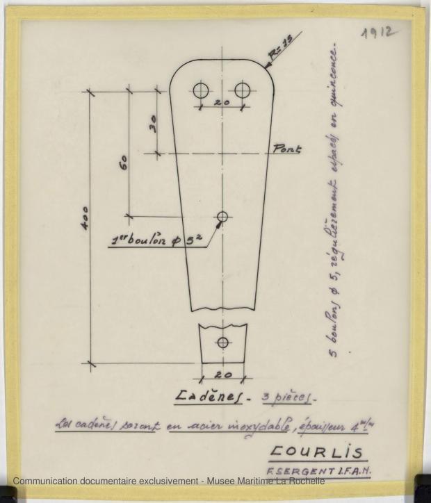 PLAN DE CONSTRUCTION - COURLIS  5.50 M (1981)