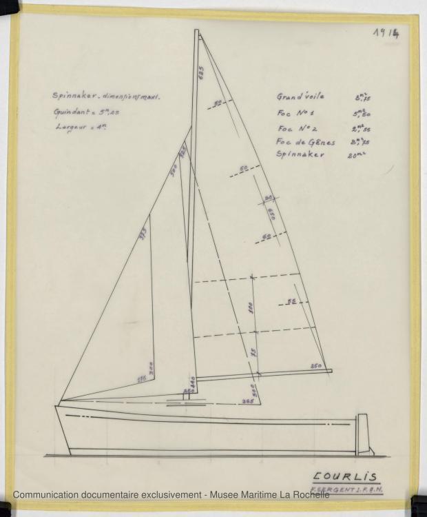 PLAN DE VOILURE/GREEMENT - COURLIS  5.50 M (1981)