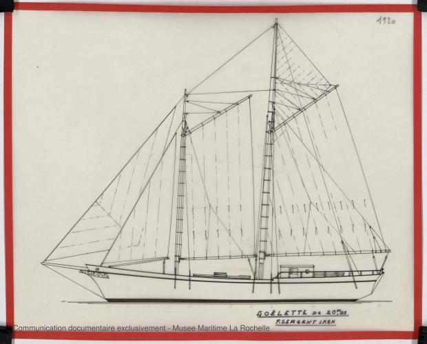 PLAN GENERAL - GOELETTE 20,25 m (ETUDE) (1982)
