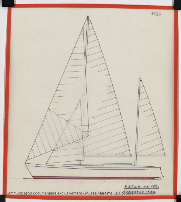 PLAN GENERAL - GOELETTE OU KETCH 15,50 M (1983)