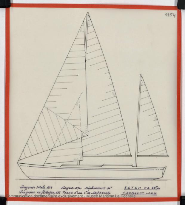 PLAN GENERAL - KETCH 16 M (1983)