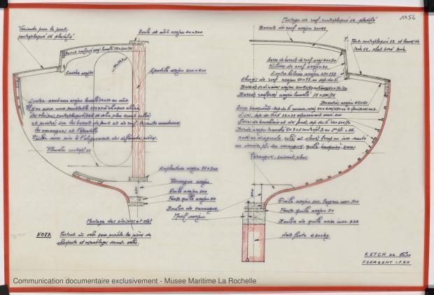 PLAN DE CONSTRUCTION - KETCH 16 M (1983)