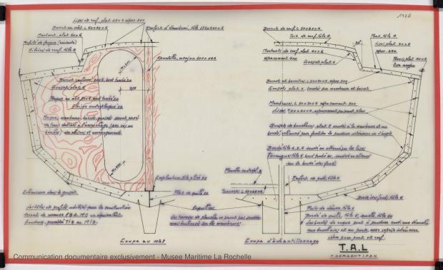PLAN DE CONSTRUCTION - TONGA-TALI 10.50 M (1983)