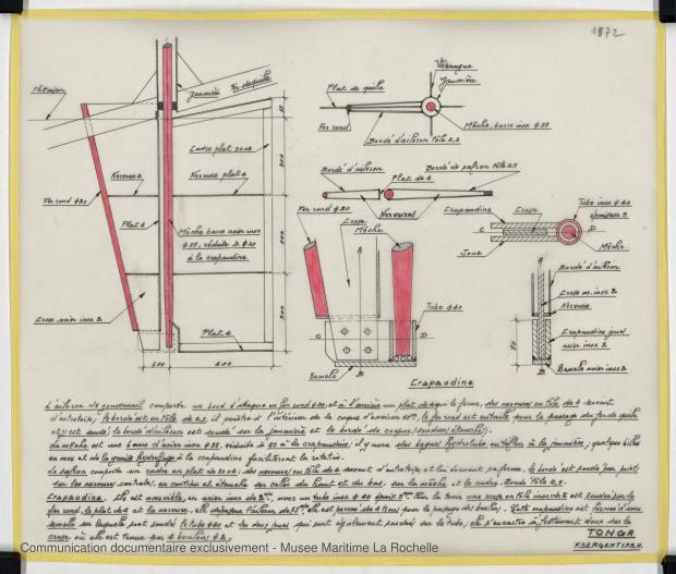 PLAN D'APPAREIL A GOUVERNER - TONGA-TALI 10.50 M (1983)