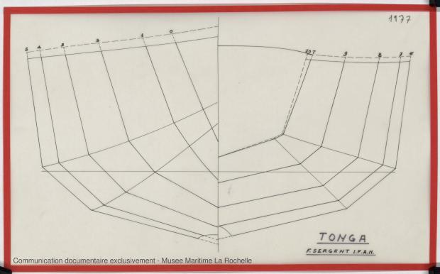 PLAN DE COQUE - TONGA-TALI 10.50 M (1983)