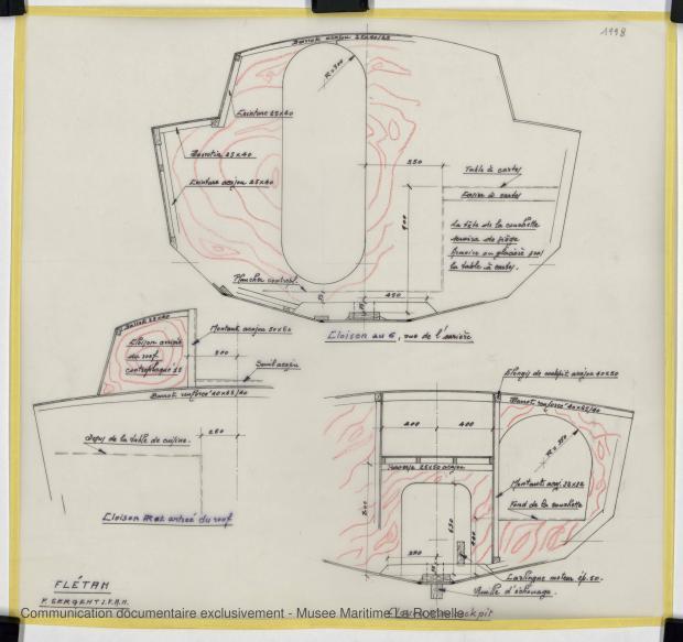 PLAN DE CONSTRUCTION - FLETAN DERIVEUR 9 M (1984)