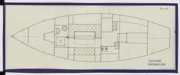 PLAN D'AMENAGEMENT  - KOMOG LANGOUSTIER 10.75 M (1985)