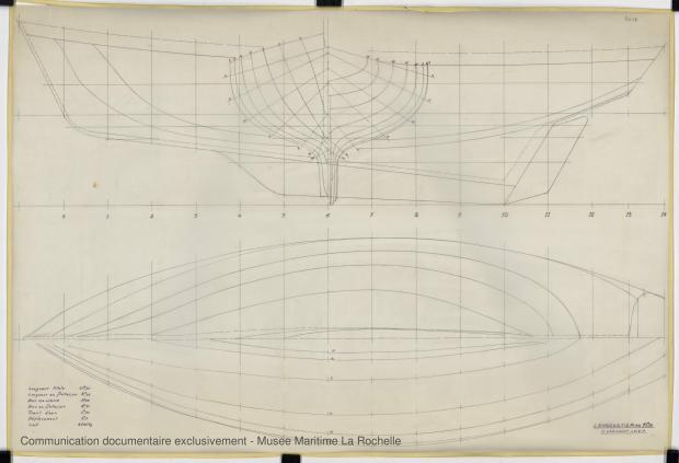 PLAN DE COQUE - KOMOG LANGOUSTIER 10.75 M (1985)