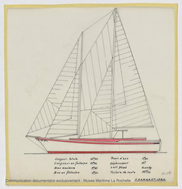 PLAN GENERAL - GOELLETTE 13,50 M (1986)