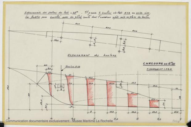 PLAN DE DERIVE/QUILLE - CHALOUPE DE 6,75 M (1988)