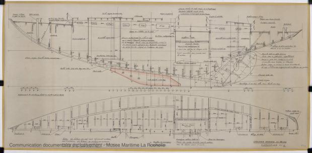 PLAN DE CONSTRUCTION - Thalamus  Cruiser rapide 14,40 m (1963)