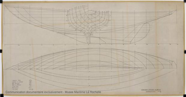 PLAN DE COQUE - Thalamus  Cruiser rapide 14,40 m (1963)